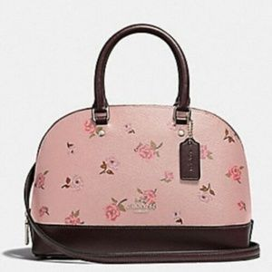 Coach MINI SIERRA SATCHEL WITH TOSSED PEONY
